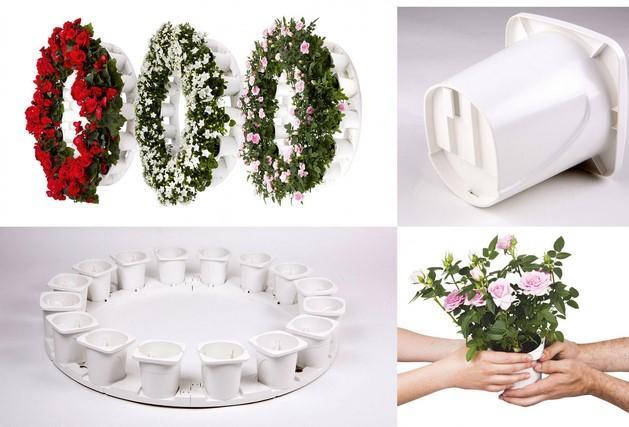 Coronas funerarias de plantas vivas